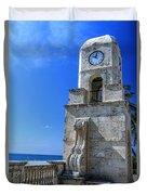 Palm Beach Clock Tower  Duvet Cover