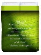 Palm Branch Duvet Cover