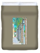Palm Columns Duvet Cover