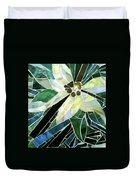 Palm Flower Mosaic Duvet Cover