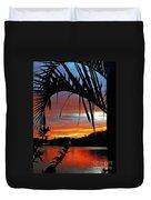 Palm Framed Sunset Duvet Cover