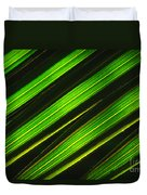 Palm Frond Abstract Duvet Cover