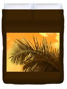 Palm Frond Sunset Duvet Cover