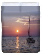 Palm Harbor Florida At Sunset Duvet Cover