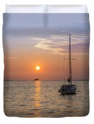 Palm Harbor Has The Best Sunsets Duvet Cover