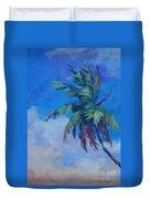 Palm In Evening Light Duvet Cover