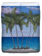 Palm Island Duvet Cover