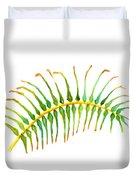Palm Leaf Watercolor Duvet Cover