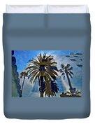 Palm Mural Duvet Cover