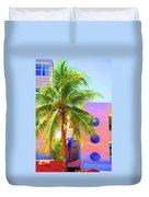 Palm Of Miami Duvet Cover