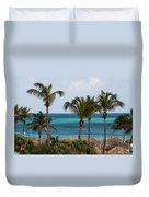 Palm On The Beach Duvet Cover