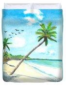Palm Over Diani Beach Duvet Cover