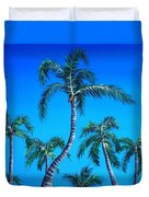 Palm Tops Duvet Cover