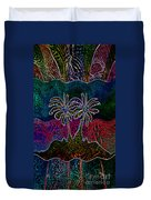 Palm Tree Abstraction Duvet Cover