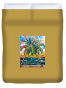 Palm Tree Color Times Two Duvet Cover