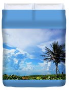Palm Tree Dream Delray Beach Florida Duvet Cover