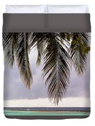 Palm Tree Leaves At The Beach Duvet Cover