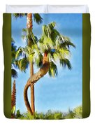 Palm Tree Needs A Chiropractor Painterly I Duvet Cover
