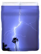 Palm Tree On Strike Duvet Cover