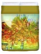 Palm Tree Portrait Duvet Cover