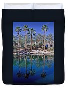 Palm Tree Reflections Duvet Cover
