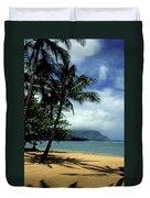 Palm Tree Shadows Duvet Cover