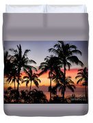 Palm Tree Silhouettes Duvet Cover