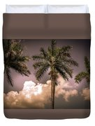 Palm Trees Against Beautiful Sky Duvet Cover