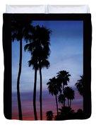 Palm Trees At Sunset Duvet Cover