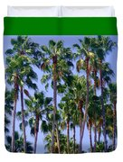 Palm Trees. California, Sunny Beauty Duvet Cover