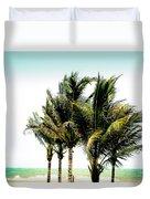Palm Trees Ocean Breeze Duvet Cover