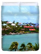 Palm Trees Of Oyster Bay Duvet Cover