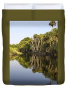 Palm Trees Reflections Duvet Cover