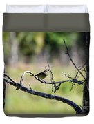 Palm Warbler Greetings Duvet Cover