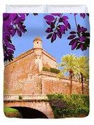 Palma De Majorca Old City Walls Duvet Cover