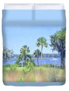 Palmetto Bluff Backyard Duvet Cover