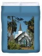 Palmetto Bluff Chapel Duvet Cover