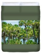 Palmetto Palm Trees In Sub Tropical Climate Of Usa Duvet Cover