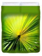 Radial Palm Duvet Cover