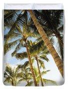 Palms Against Blue Sky Duvet Cover