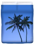 Palms And Blue Sky Duvet Cover
