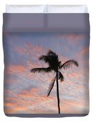 Palms And Pink Clouds Duvet Cover