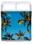Palms And Sky Duvet Cover