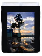Palms And Sunshine Duvet Cover
