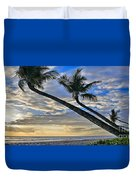 Palms Of Kaanapali Duvet Cover