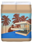 Palms On The Edge Duvet Cover