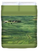 Palouse Green Fields Duvet Cover