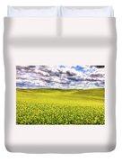 Palouse Hills Canola Duvet Cover