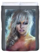 Pamela Anderson Duvet Cover by Ylli Haruni
