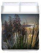 Pampas Grass Sunset Duvet Cover